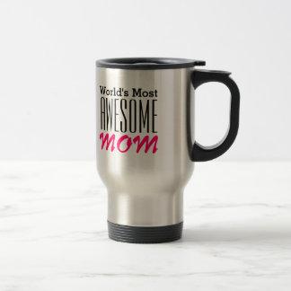 世界の最も素晴らしいお母さん文字のデザイン トラベルマグ