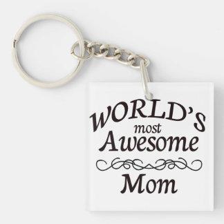 世界の最も素晴らしいお母さん キーホルダー