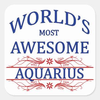 世界の最も素晴らしいアクエリアス スクエアシール