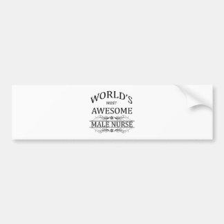 世界の最も素晴らしいオスのナース バンパーステッカー