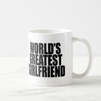 世界の最も素晴らしいガールフレンドのマグ コーヒーマグカップ