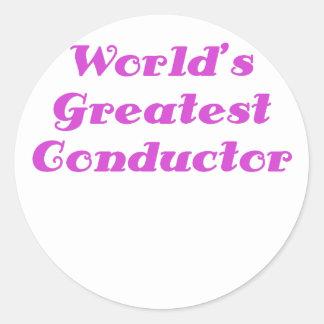 世界の最も素晴らしいコンダクター ラウンドシール