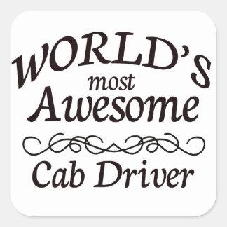 世界の最も素晴らしいタクシー運転手 スクエアシール