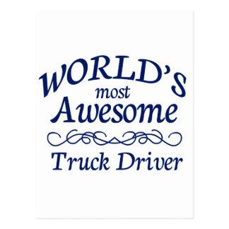 世界の最も素晴らしいトラックの運転手 ポストカード