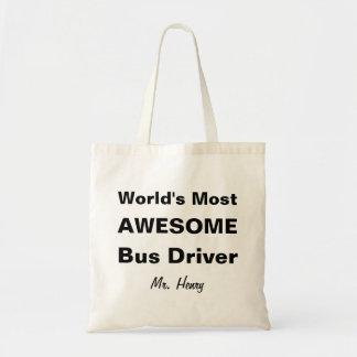 世界の最も素晴らしいバス運転手 トートバッグ