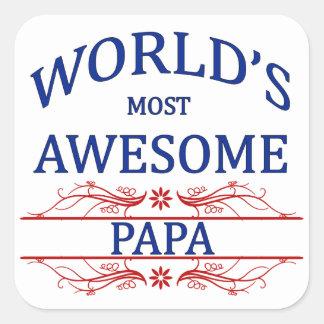世界の最も素晴らしいパパ スクエアシール
