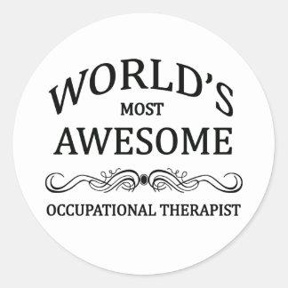 世界の最も素晴らしい作業療法士 ラウンドシール