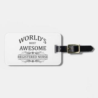 世界の最も素晴らしい公認看護師 ラゲッジタグ