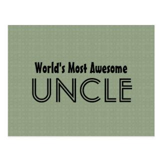 世界の最も素晴らしい叔父さん粘土はパターンを平方します ポストカード