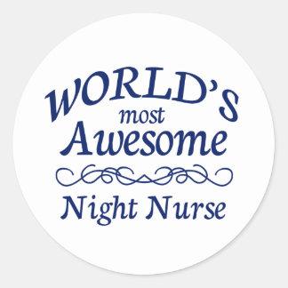 世界の最も素晴らしい夜ナース ラウンドシール