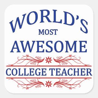 世界の最も素晴らしい大学先生 スクエアシール