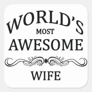 世界の最も素晴らしい妻 スクエアシール