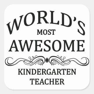 世界の最も素晴らしい幼稚園教師 スクエアシール