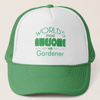 世界の最も素晴らしい庭師の緑の葉のカスタム キャップ