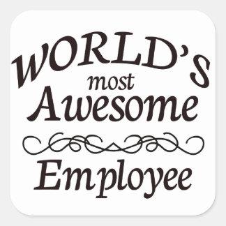 世界の最も素晴らしい従業員 スクエアシール