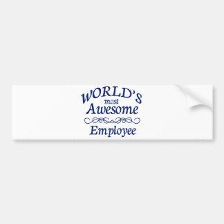 世界の最も素晴らしい従業員 バンパーステッカー