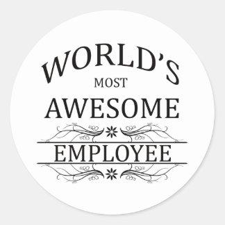 世界の最も素晴らしい従業員 ラウンドシール