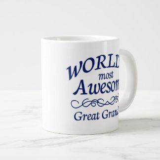 世界の最も素晴らしい曾祖父 ジャンボコーヒーマグカップ