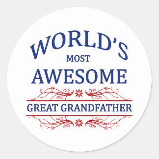 世界の最も素晴らしい曾祖父 ラウンドシール