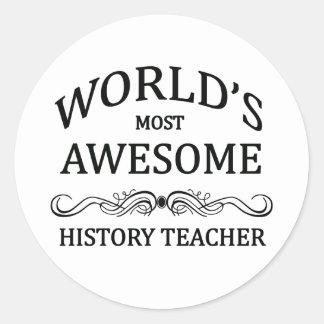 世界の最も素晴らしい歴史の先生 ラウンドシール