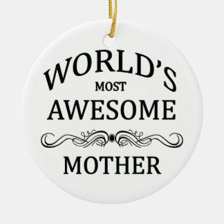 世界の最も素晴らしい母 セラミックオーナメント
