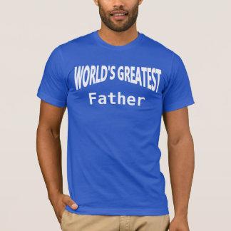 世界の最も素晴らしい父のテンプレートDIY Tシャツ