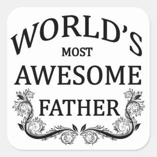 世界の最も素晴らしい父 スクエアシール