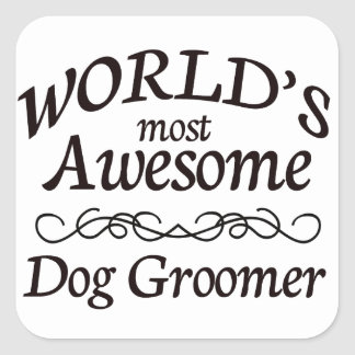 世界の最も素晴らしい犬のトリマー スクエアシール
