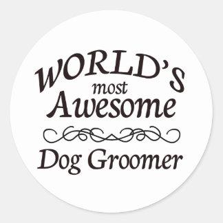 世界の最も素晴らしい犬のトリマー ラウンドシール