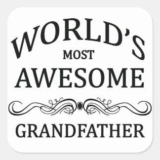 世界の最も素晴らしい祖父 スクエアシール
