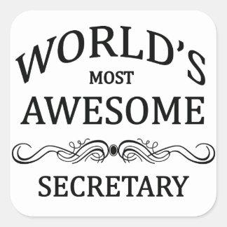 世界の最も素晴らしい秘書 スクエアシール