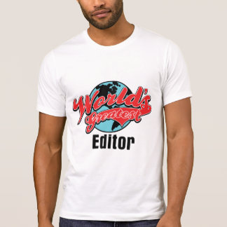 世界の最も素晴らしい編集者 Tシャツ