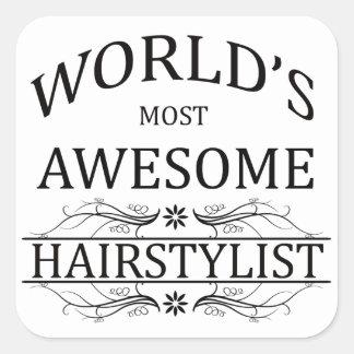 世界の最も素晴らしい美容師 スクエアシール