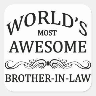 世界の最も素晴らしい義理の兄弟 スクエアシール