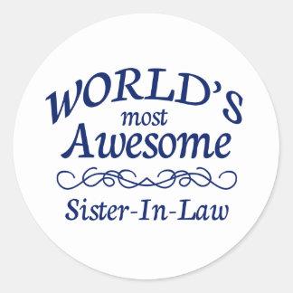 世界の最も素晴らしい義理の姉妹 ラウンドシール
