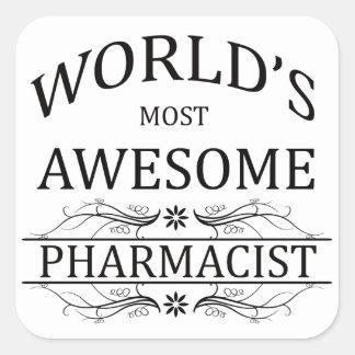 世界の最も素晴らしい薬剤師 スクエアシール