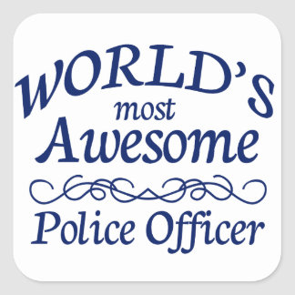 世界の最も素晴らしい警官 スクエアシール