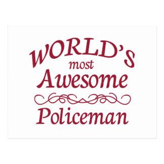 世界の最も素晴らしい警官 ポストカード