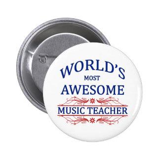世界の最も素晴らしい音楽の先生 5.7CM 丸型バッジ