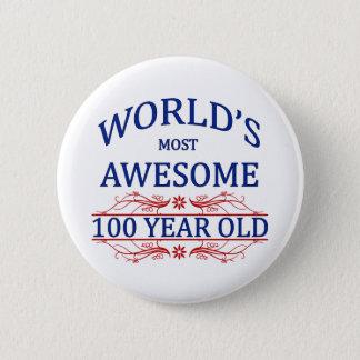 世界の最も素晴らしい100歳 5.7CM 丸型バッジ