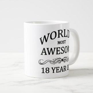 世界の最も素晴らしい18歳児 ジャンボコーヒーマグカップ