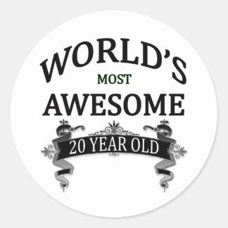 世界の最も素晴らしい20歳 ラウンドシール