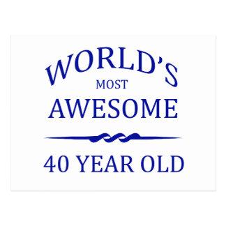 世界の最も素晴らしい40歳 ポストカード
