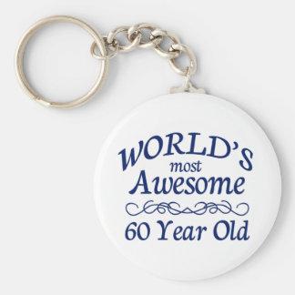 世界の最も素晴らしい60歳 キーホルダー