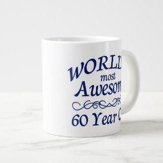 世界の最も素晴らしい60歳 ジャンボコーヒーマグカップ