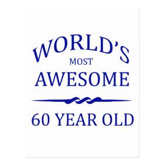世界の最も素晴らしい60歳 ポストカード