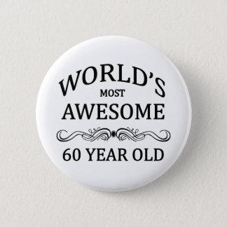 世界の最も素晴らしい60歳 缶バッジ