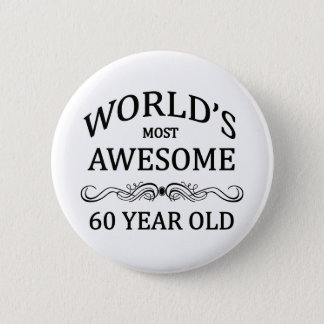 世界の最も素晴らしい60歳 5.7CM 丸型バッジ