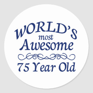世界の最も素晴らしい75歳 ラウンドシール