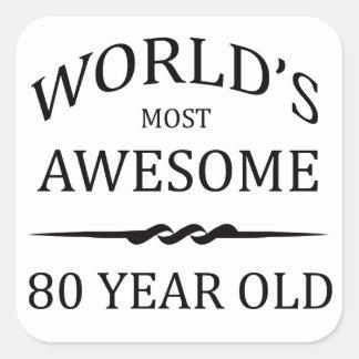 世界の最も素晴らしい80歳 スクエアシール